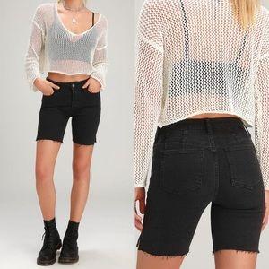 NWT Free People denim bermuda shorts